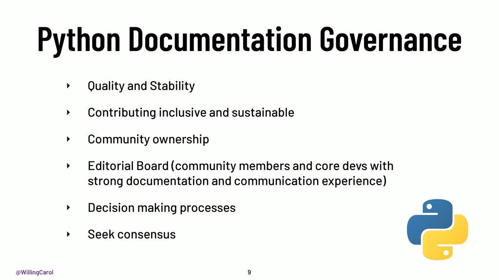 @WillingCarol Python Documentation Governance 9...