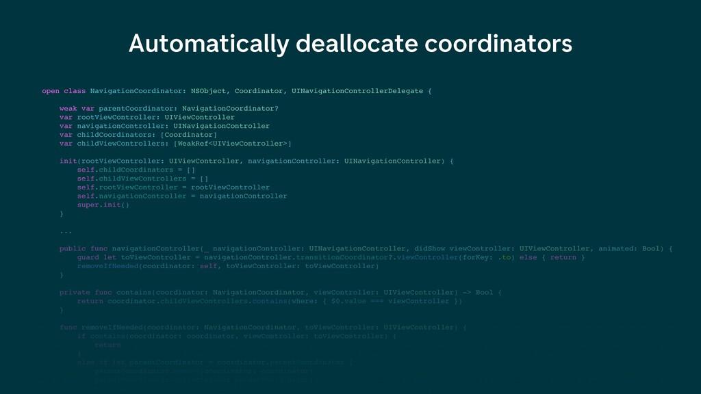 Automatically deallocate coordinators open clas...