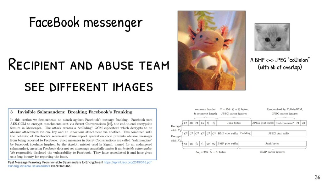 Recipient and abuse team see different images. ...
