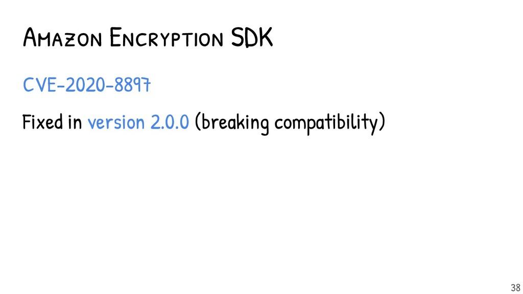 Amazon Encryption SDK - CVE-2020-8897 - Fixed i...