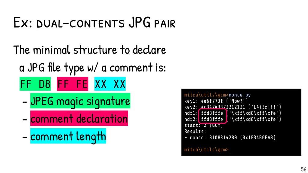 Ex: dual-contents JPG pair The minimal structur...