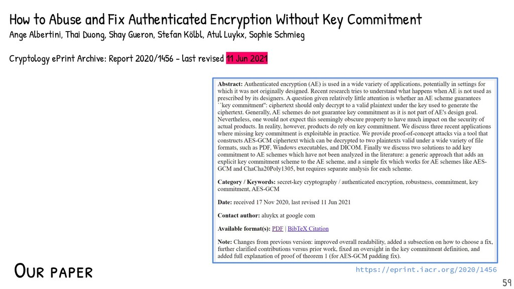 Our paper: How to Abuse and Fix Authenticated E...