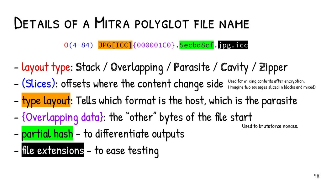 Details of a Mitra polyglot file name 98 O(4-84)...