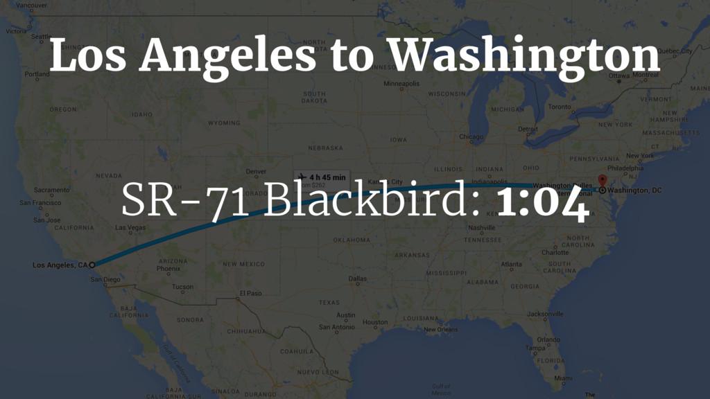 SR-71 Blackbird: 1:04 Los Angeles to Washington