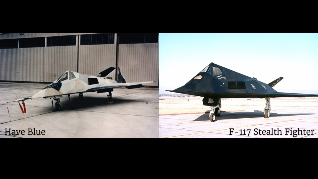 F-117 Stealth Fighter Have Blue