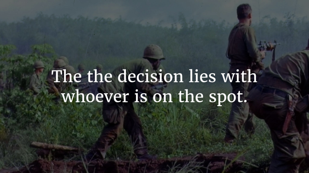 The the decision lies with whoever is on the sp...