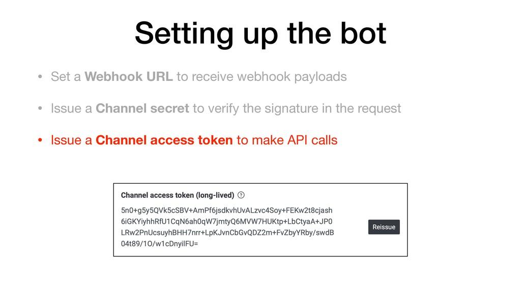 • Set a Webhook URL to receive webhook payloads...