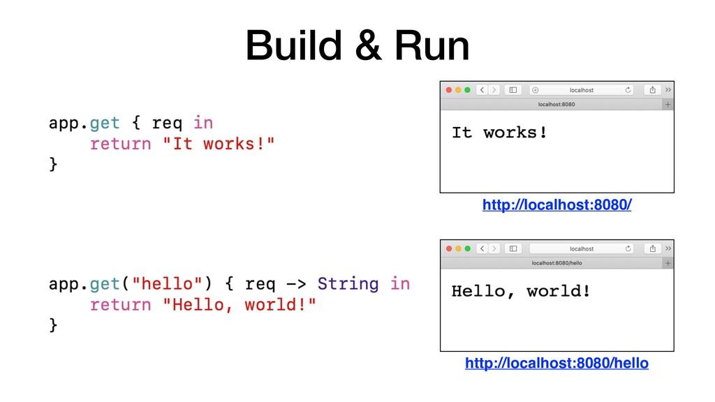 Build & Run http://localhost:8080/ http://local...