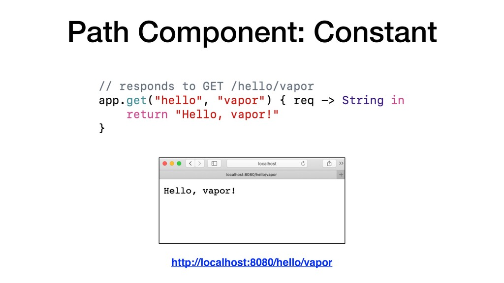 Path Component: Constant http://localhost:8080/...