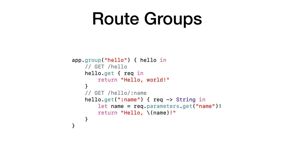 Route Groups