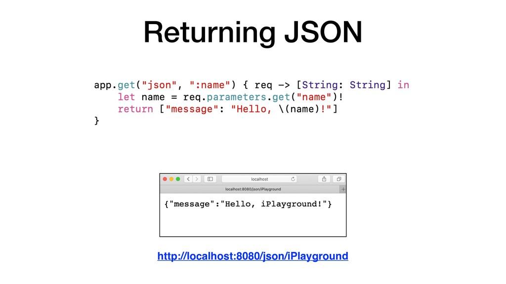 Returning JSON http://localhost:8080/json/iPlay...