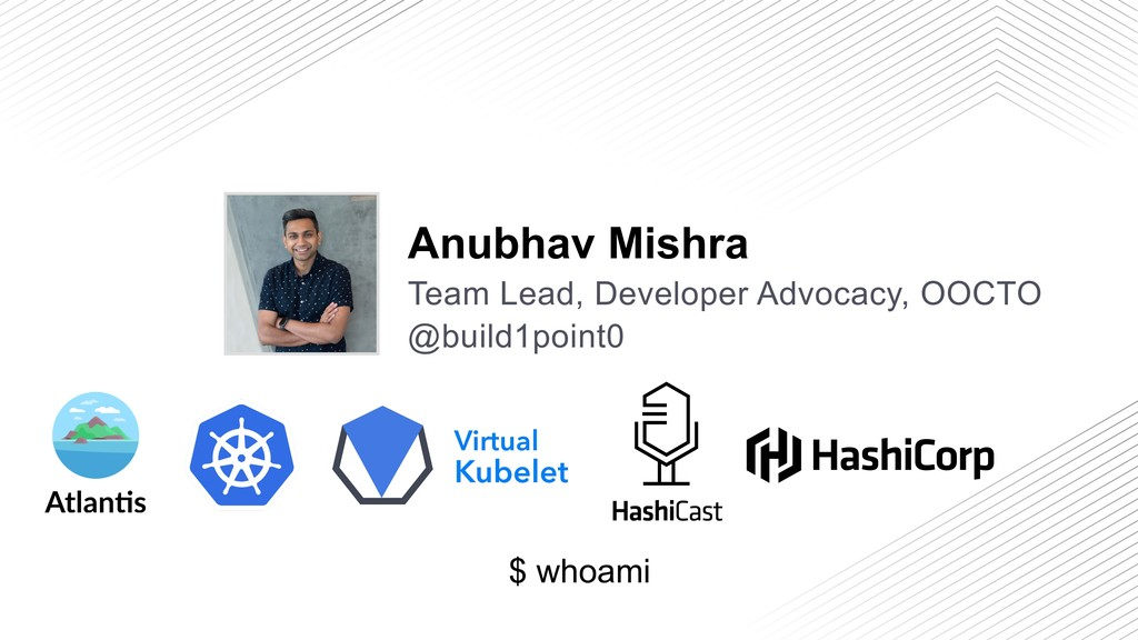 $ whoami @build1point0 Anubhav Mishra Team Lead...