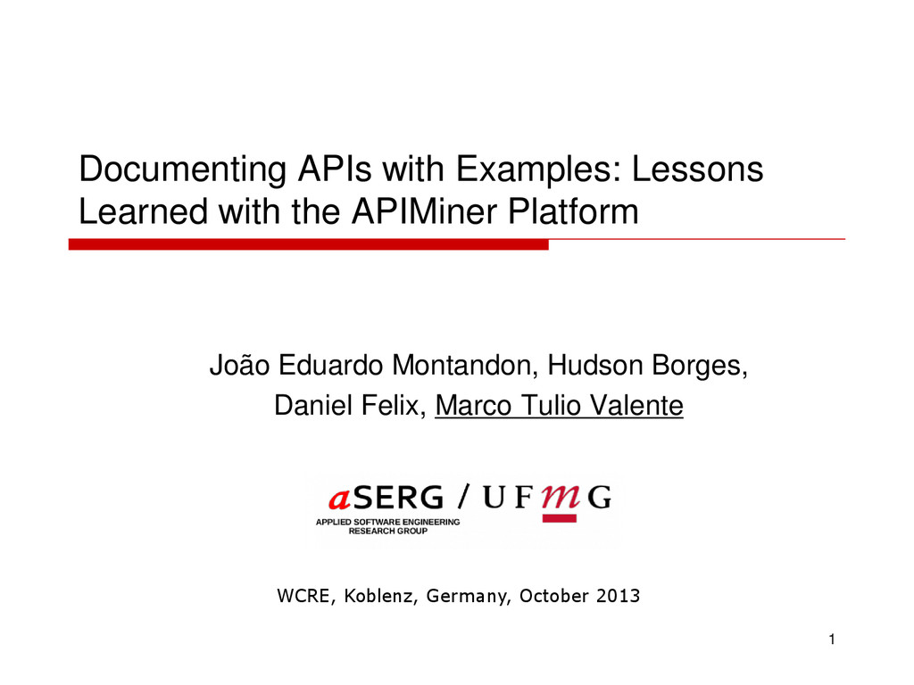 Documenting APIs with Examples: Lessons Learned...