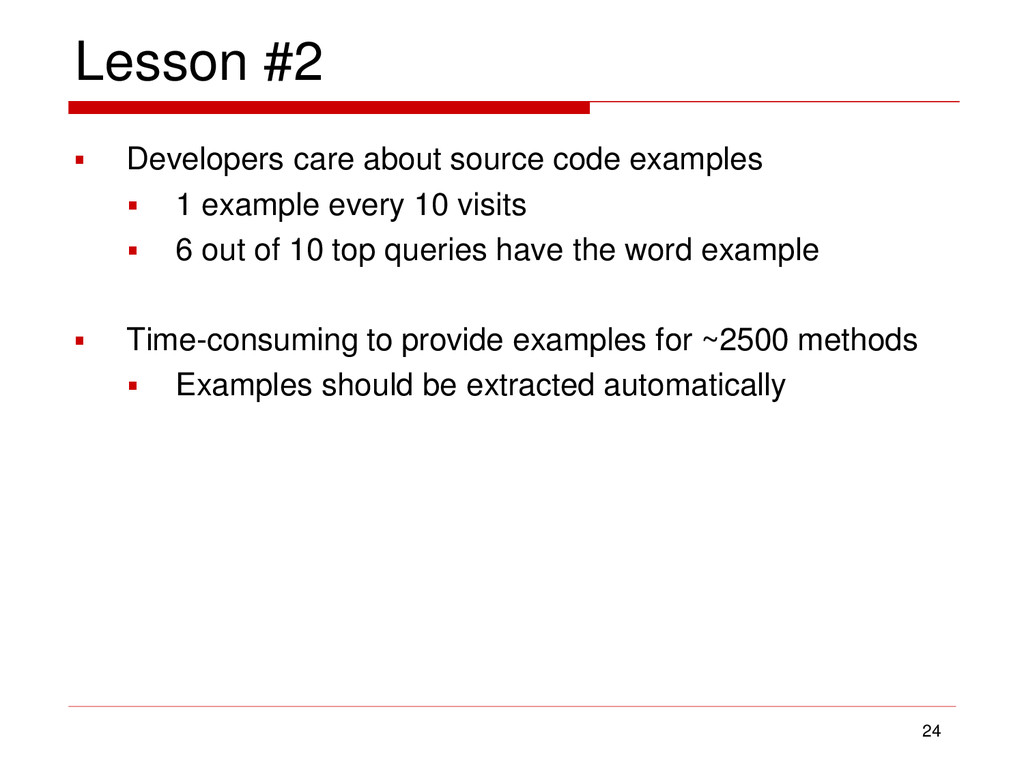 Lesson #2  Developers care about source code e...
