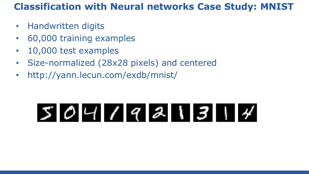 Classification with Neural networks Case Study:...