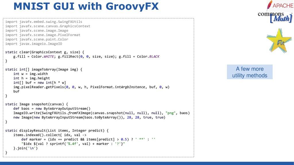 MNIST GUI with GroovyFX import javafx.embed.swi...