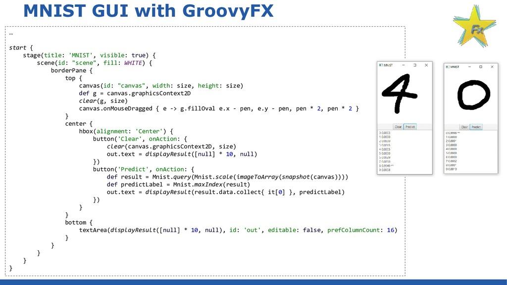 MNIST GUI with GroovyFX … start { stage(title: ...