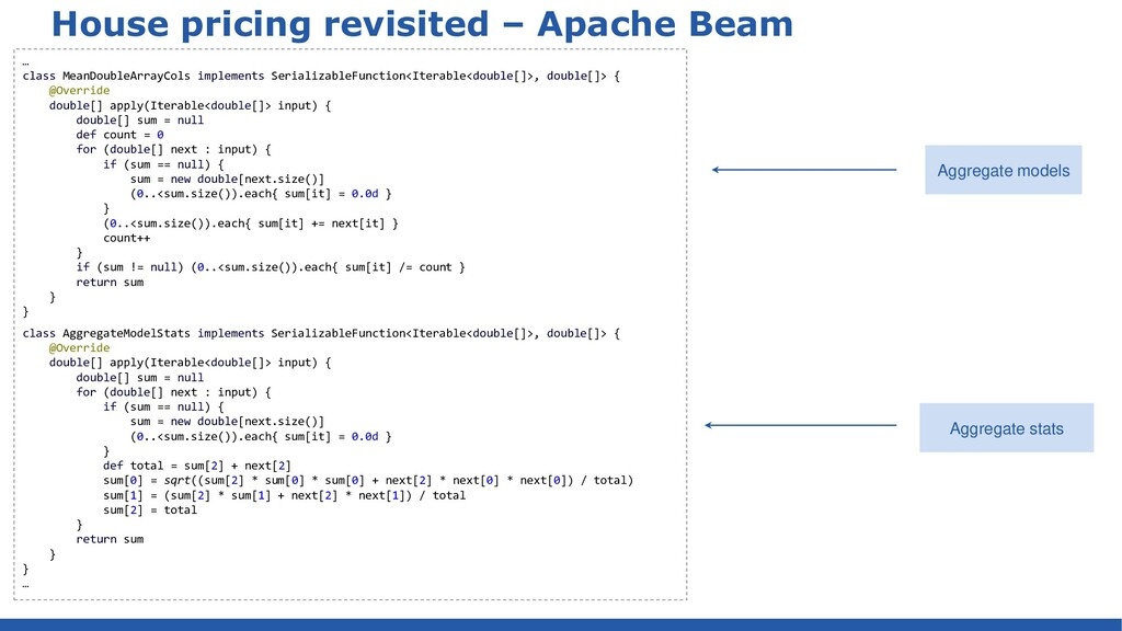 House pricing revisited – Apache Beam … class M...