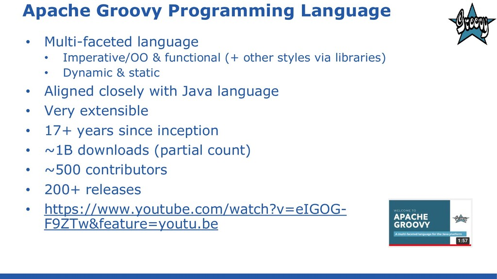 Apache Groovy Programming Language • Multi-face...