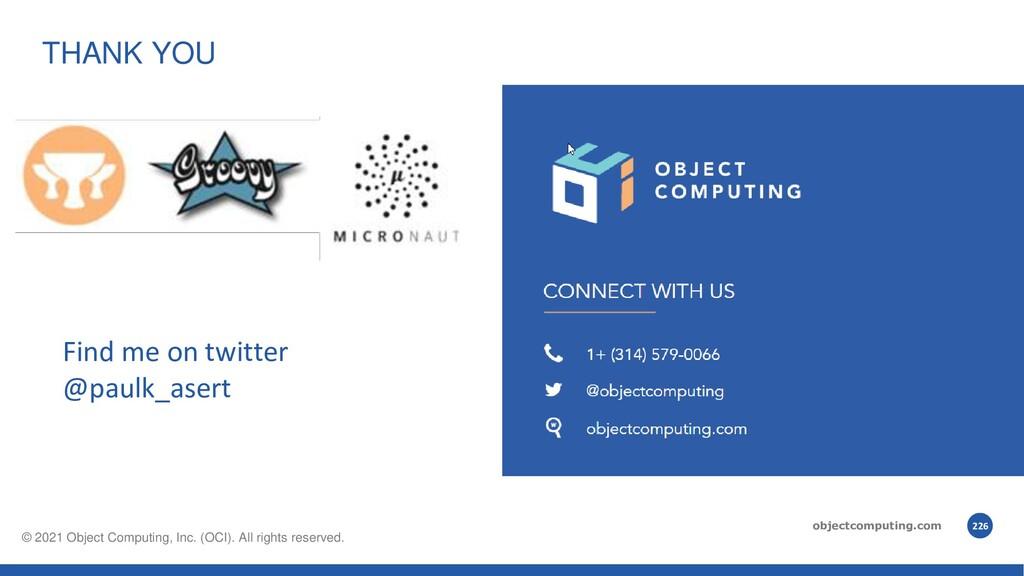 objectcomputing.com © 2021, Object Computing, I...