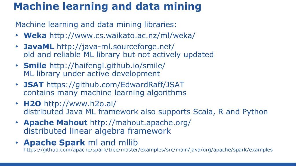 Math libraries Math and stats libraries • Java:...