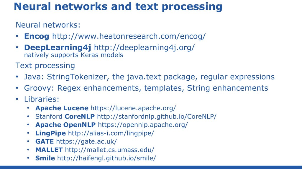 Neural networks and text processing Neural netw...