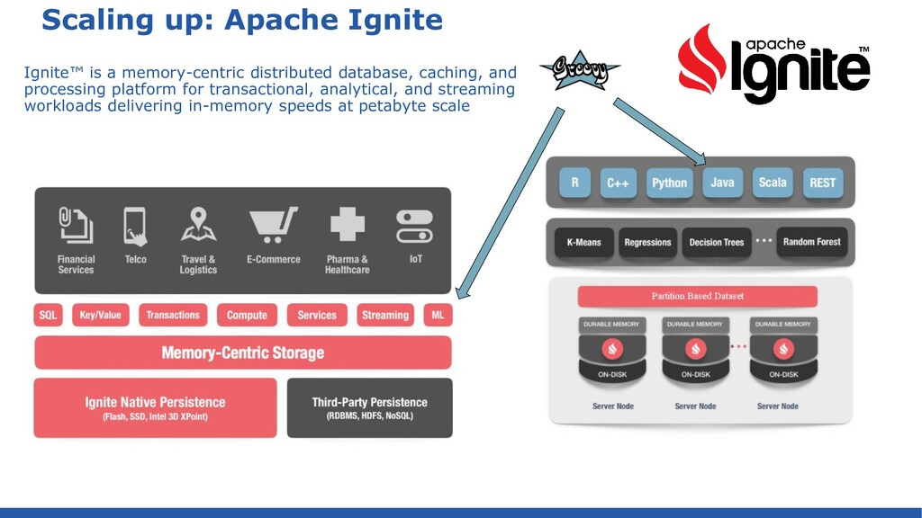 Scaling up: Apache Ignite Ignite™ is a memory-c...