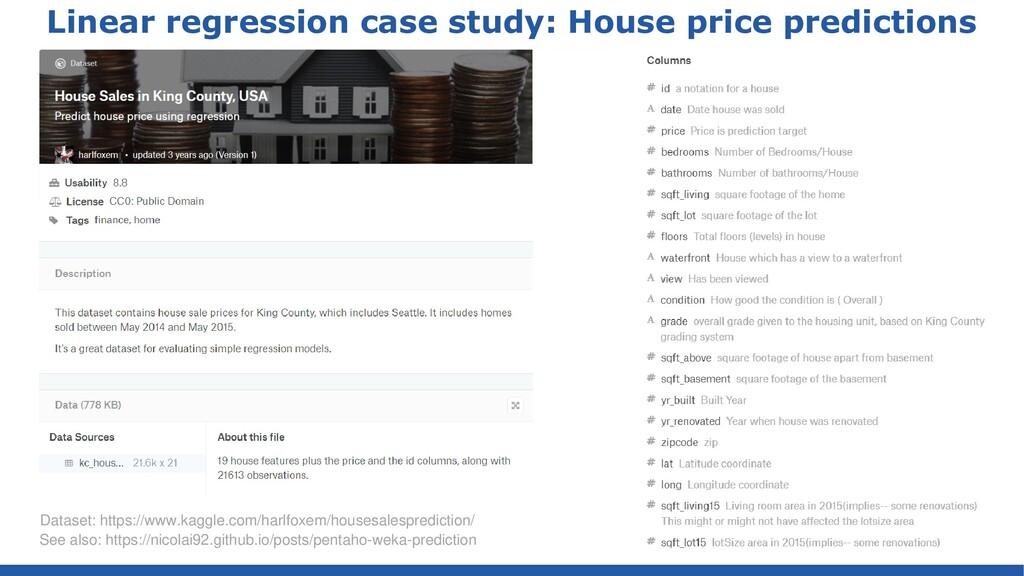 Linear regression case study: House price predi...