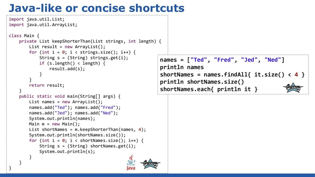 Java-like or concise shortcuts import java.util...