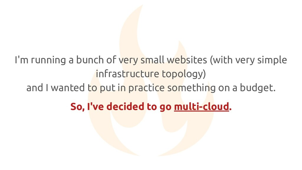 I'm running a bunch of very small websites (wit...