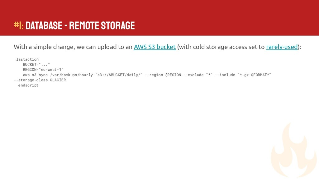 #1: Database - Remote Storage With a simple cha...