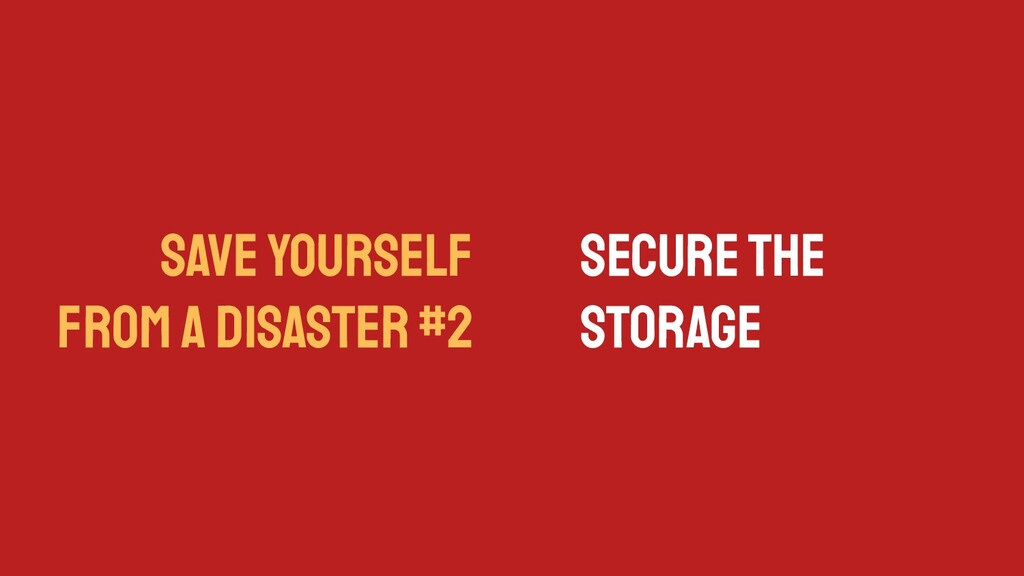 SAVE YOURSELF FROM A DISASTER #2 Secure the Sto...