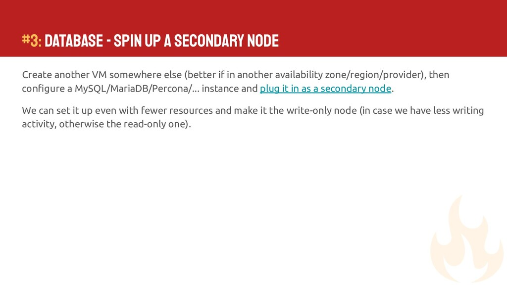 #3: Database - Spin up a secondary node Create ...