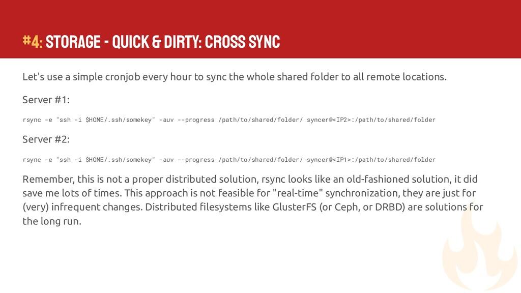 #4: Storage - Quick & Dirty: Cross Sync Let's u...