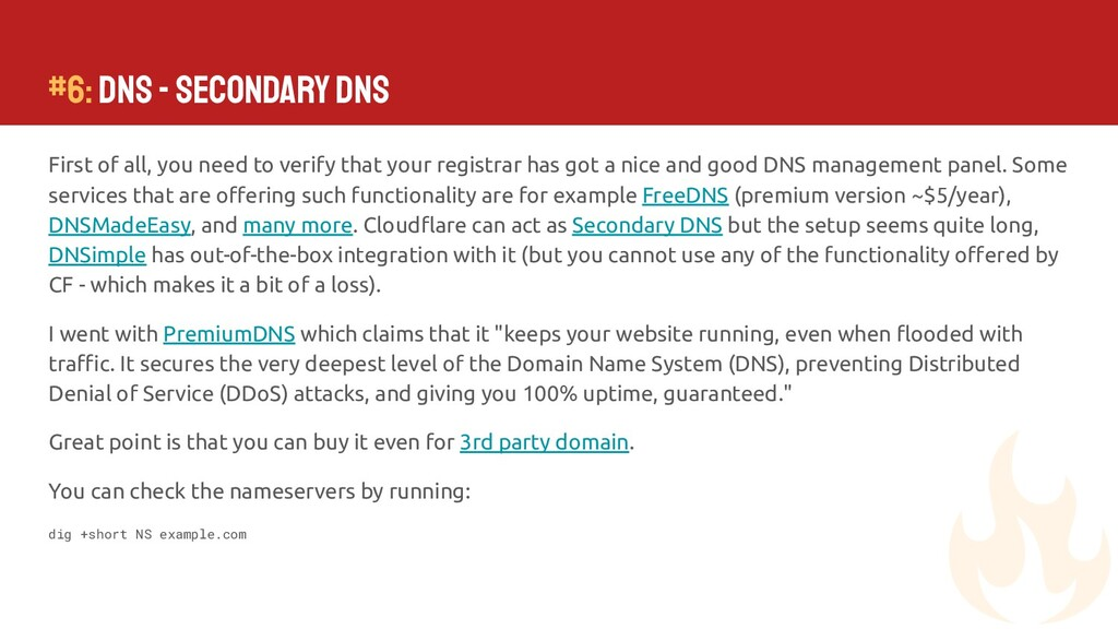 #6: DNS - Secondary DNS First of all, you need ...