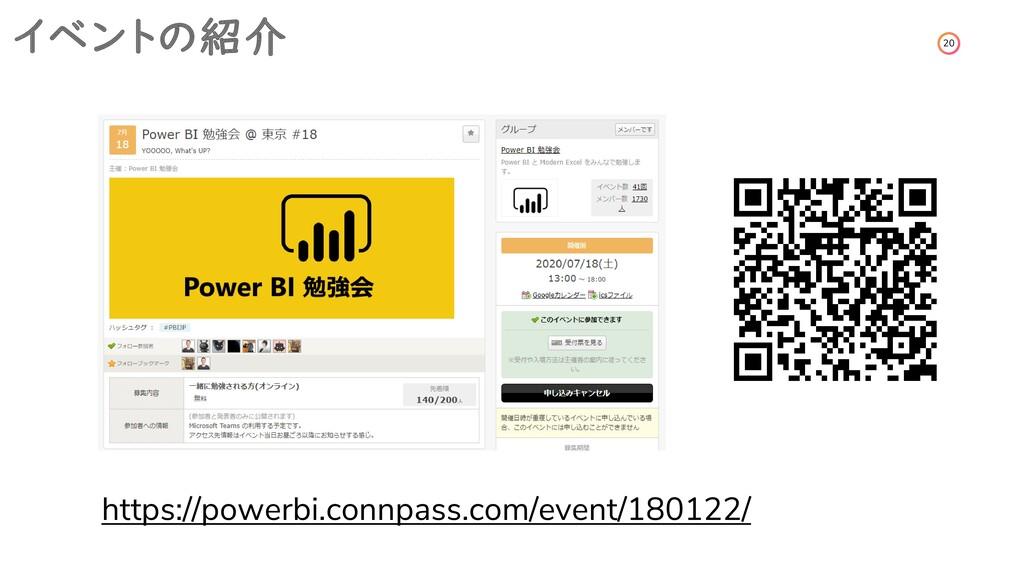20 イベントの紹介 https://powerbi.connpass.com/event/1...