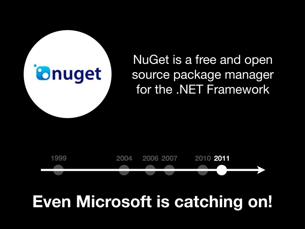 Even Microsoft is catching on! 1999 2004 2010 2...