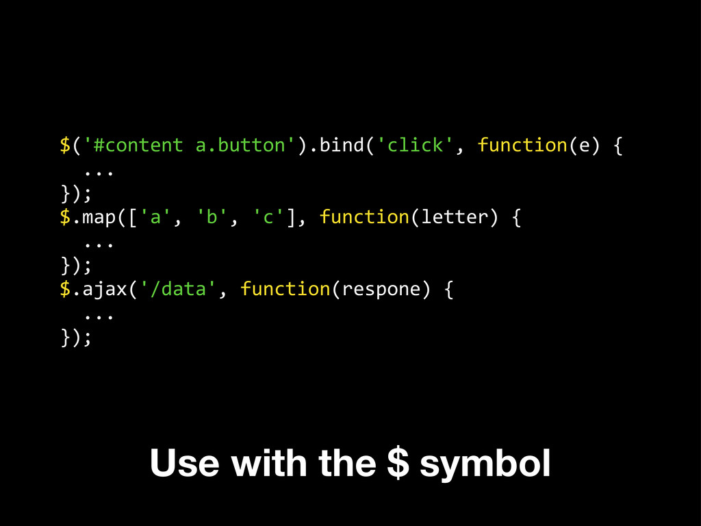$('#content a.button').bind('click', func...