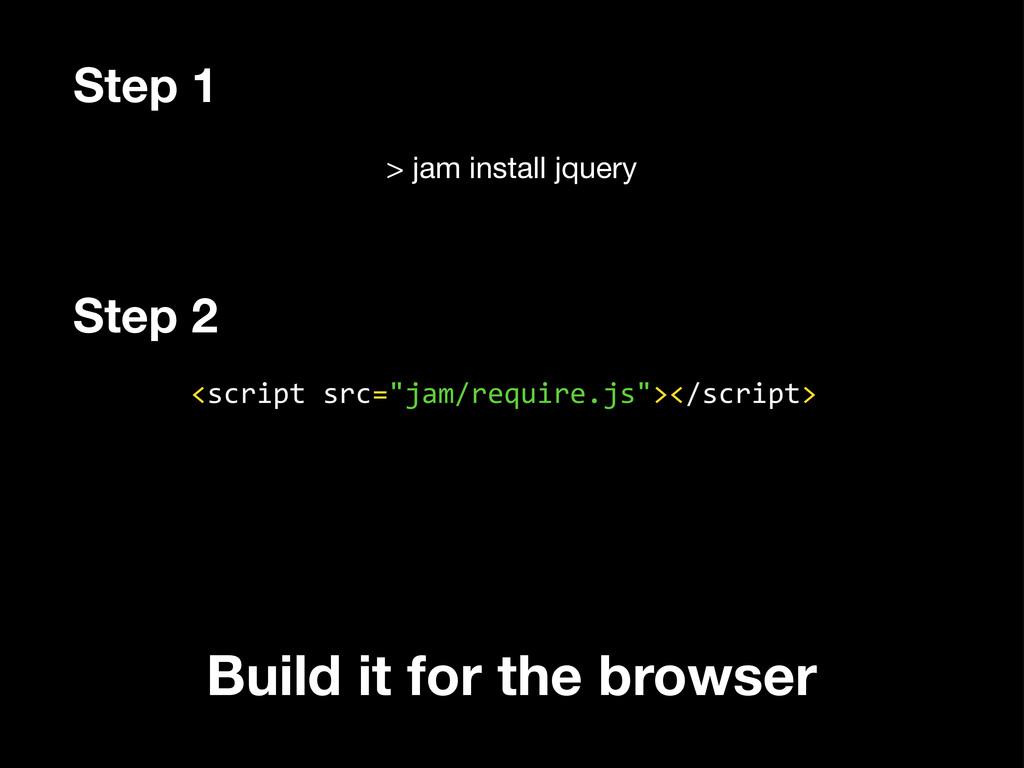 """> jam install jquery <script src=""""jam/requir..."""