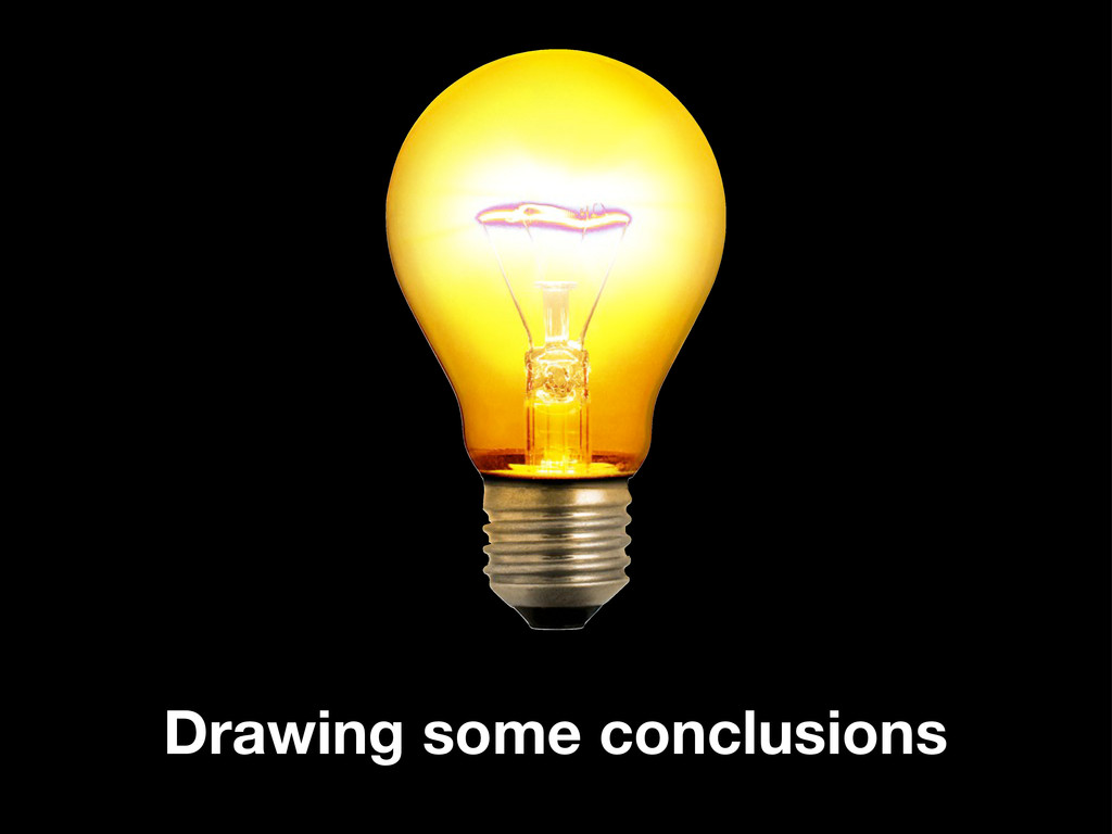 Drawing some conclusions
