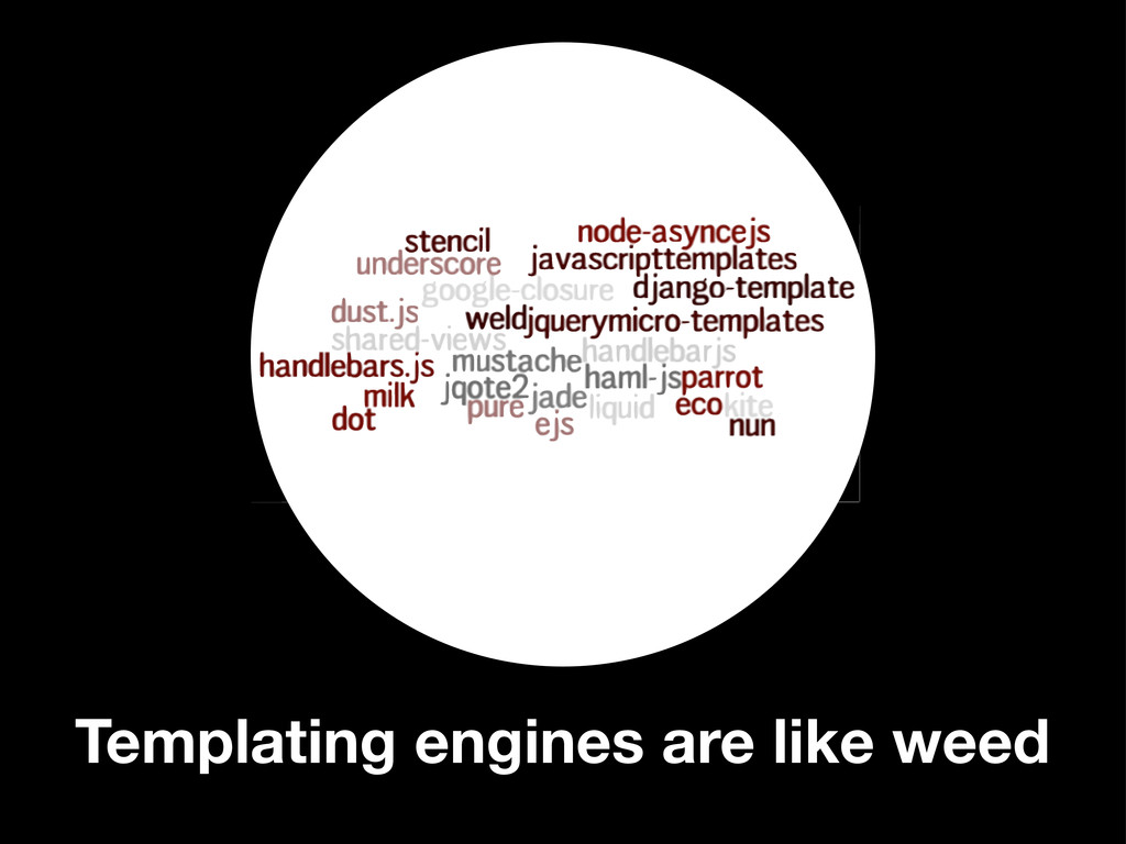 Templating engines are like weed