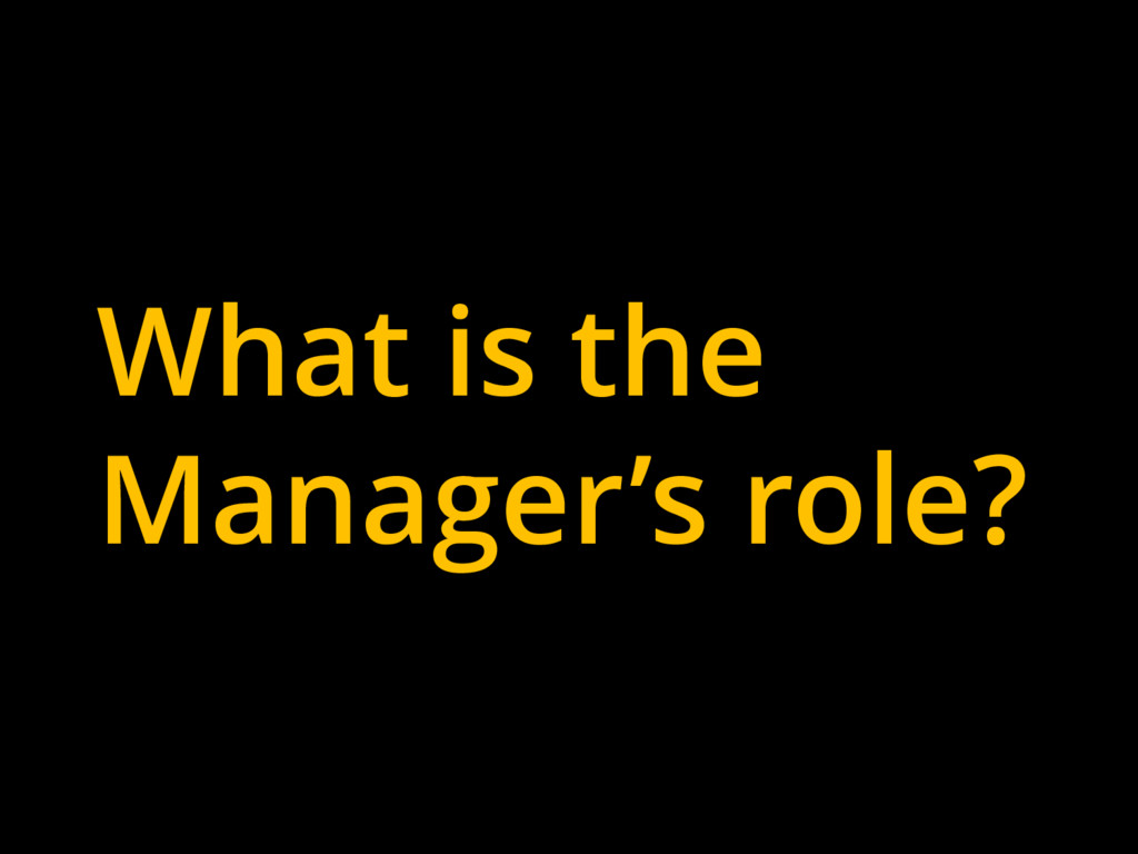 What is the Manager's role?