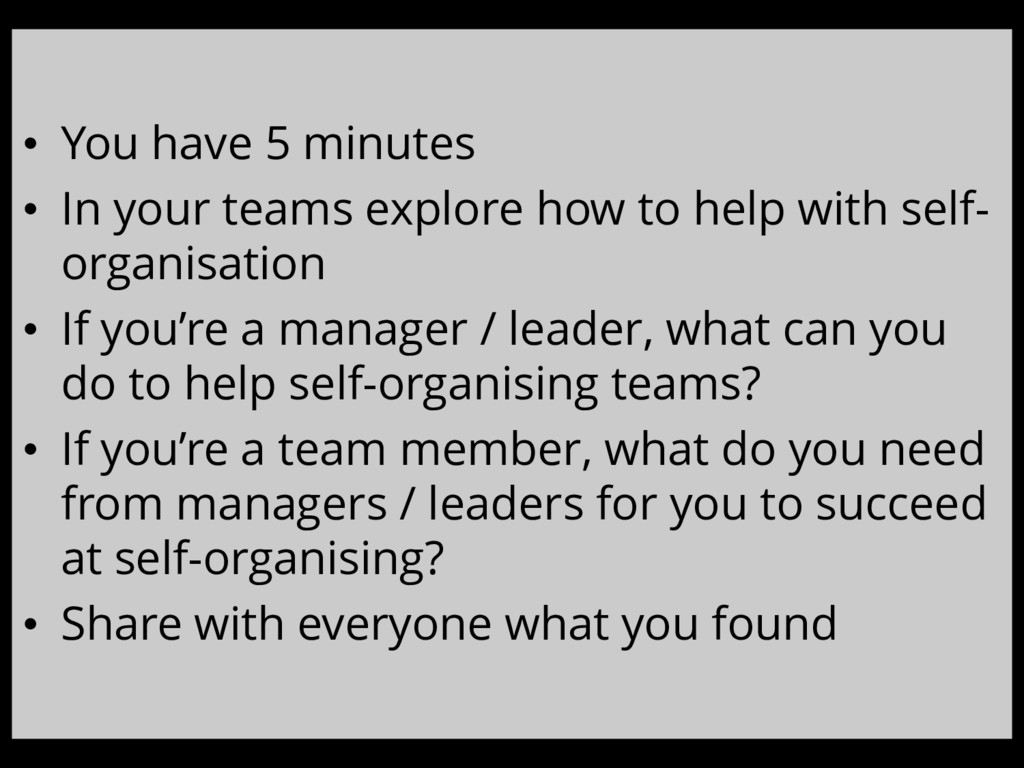 • You have 5 minutes • In your teams explore ho...