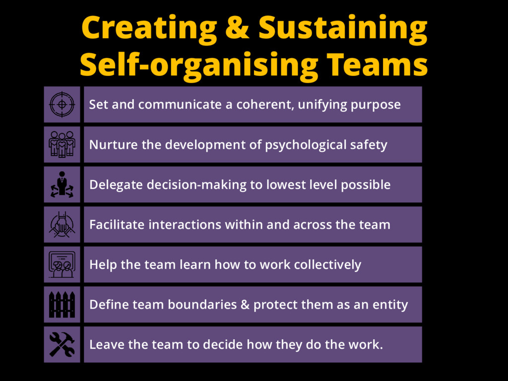 Creating & Sustaining Self-organising Teams Set...
