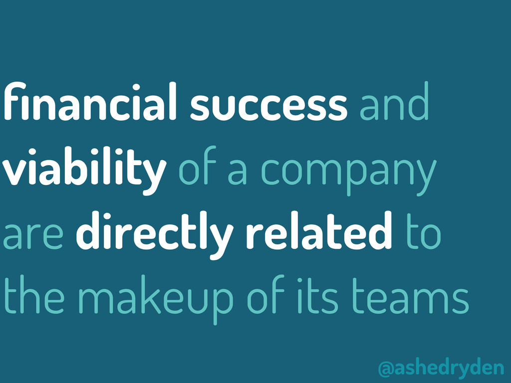 @ashedryden financial success and viability of a...