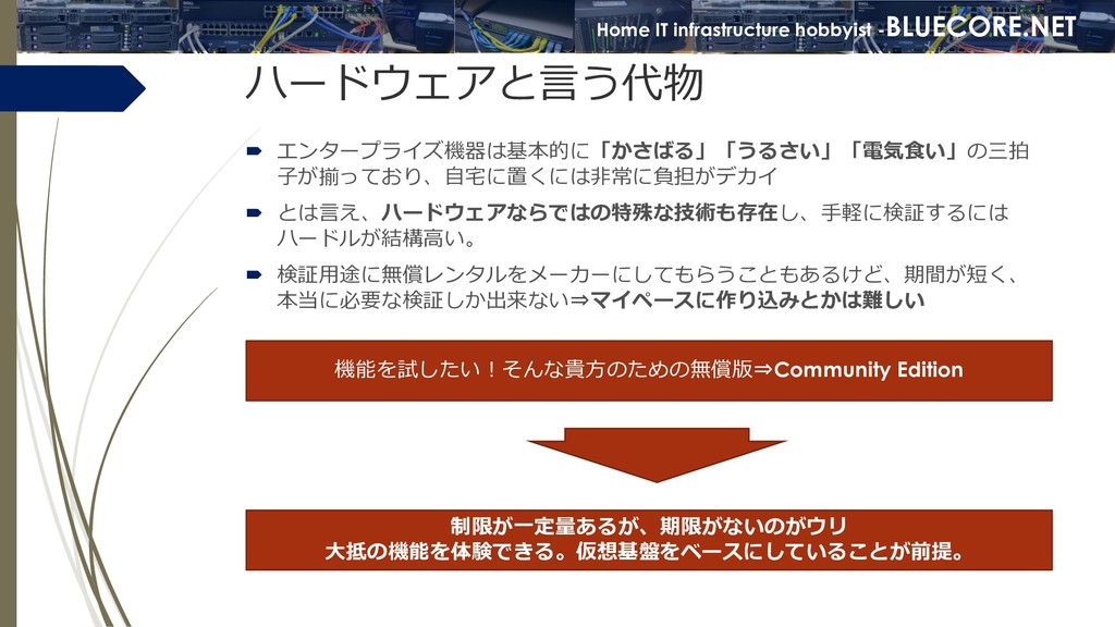Home IT infrastructure hobbyist -BLUECORE.NET ハ...