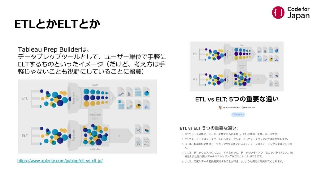 ETLとかELTとか https://www.xplenty.com/jp/blog/etl-...