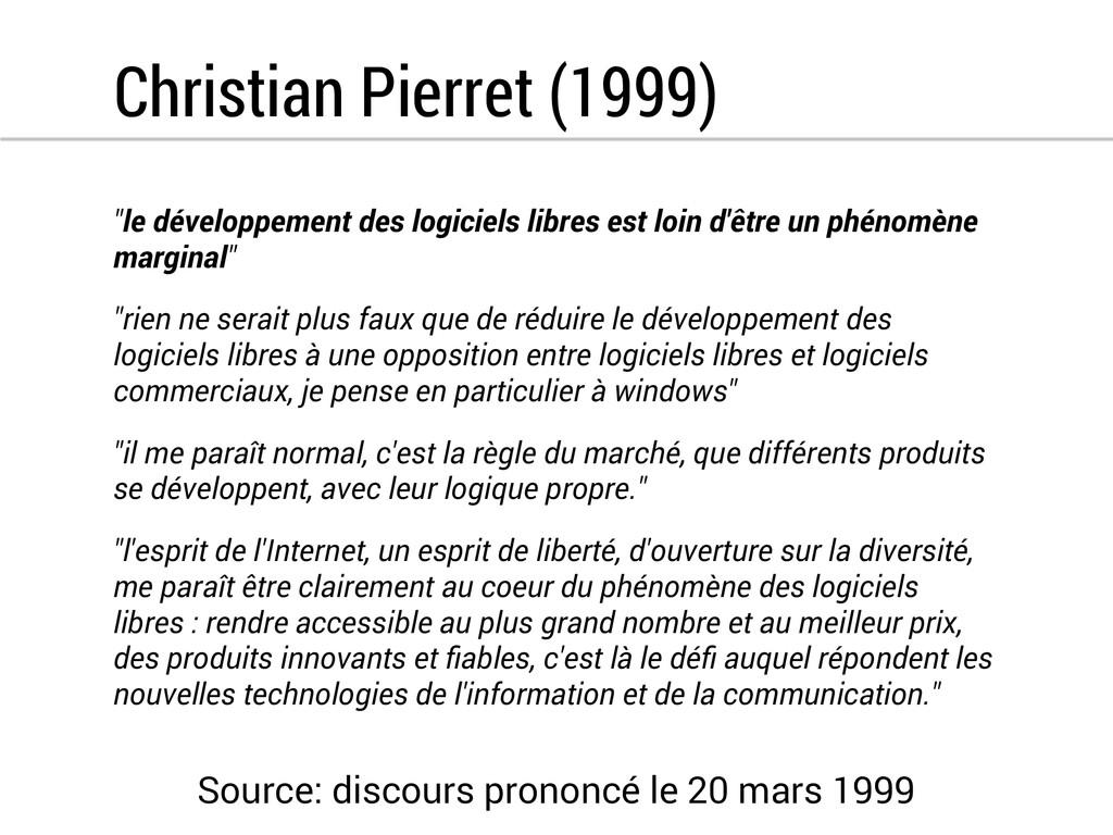 """Christian Pierret (1999) """"le développement des ..."""