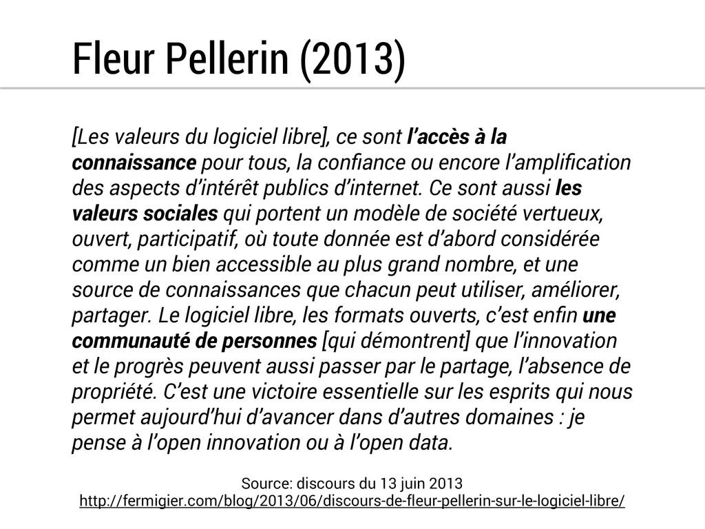 Fleur Pellerin (2013) [Les valeurs du logiciel ...