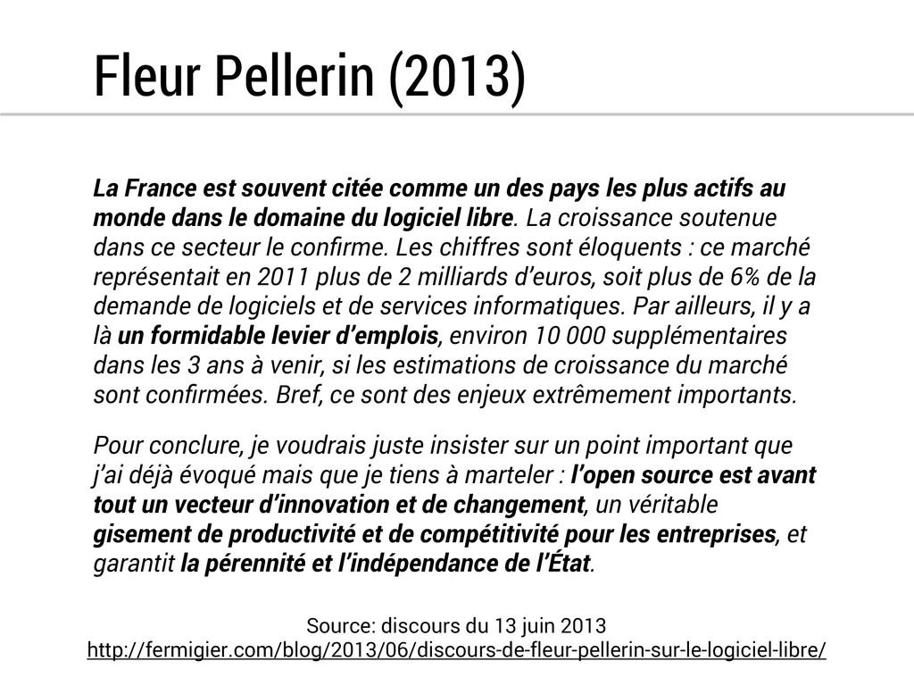 Fleur Pellerin (2013) La France est souvent cit...